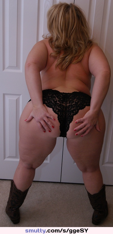 woman bbw Blonde panties