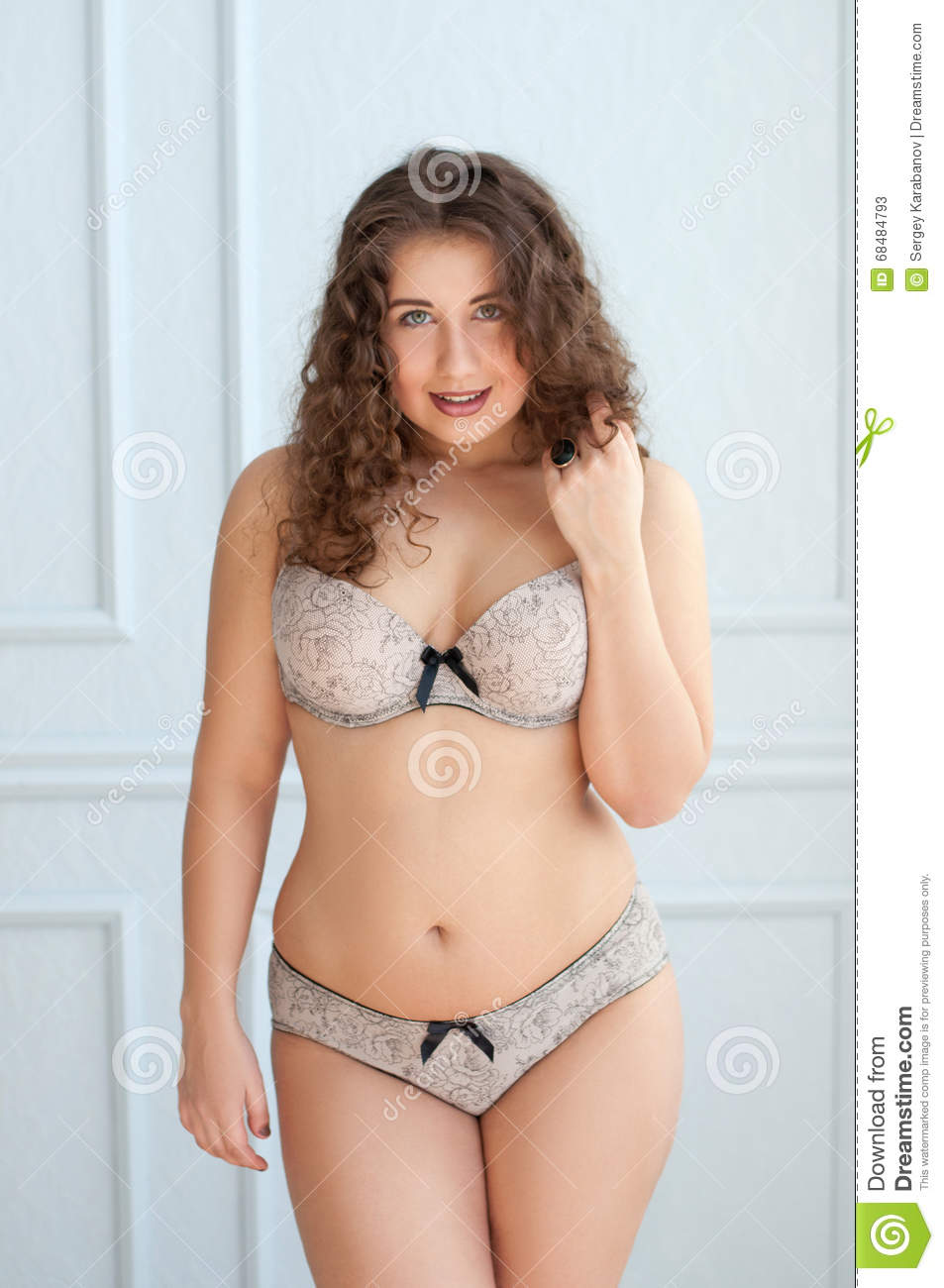 chubby lingerie Shorts curly